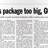 """Obama's """"Package"""" and Other News"""