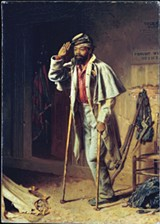 One of three panels in Thomas Waterman Wood's triptych A Bit of War History: The Contraband, The Recruit, and The Veteran (1866)