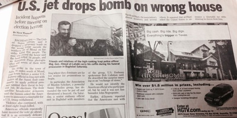 """Oops! The """"Commercial Appeal"""" Discovers That Juxtaposition Can Be Troublesome"""