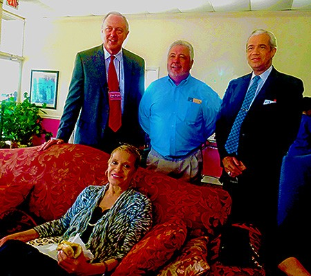Ophelia Ford had a good turnout, too; attendees at her event included (l to r) Jim Kyle, Terry Roland, and brother Joe Ford.