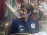 ALEX SMART - Ophelia Ford, sporting a Cohen campaign button.