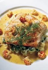 Owen Brennan's new salmon fillet dish - JUSTIN FOX BURKS