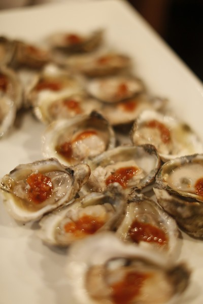 Oysters at Cochons Bloody Mary Tailgate at Sweet Grass.