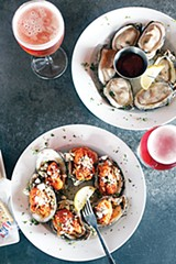 Oysters from Local's new raw bar - JUSTIN FOX BURKS