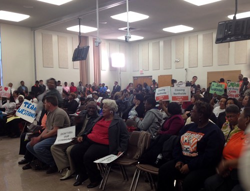 Parents and alumni pleaded with the school board to keep their schools open during the meetings public comment period.