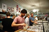 MELISSA SWEAZY - Patrons at Goner Records during the first-ever cash mob.