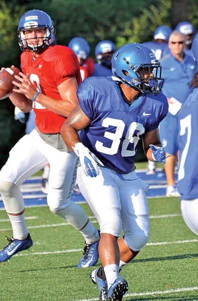 Paxton Lynch (in red) and Brandon Hayes offer hope from the Tiger backfield. - LARRY KUZNIEWSKI