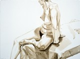 Philip Pearlstein's Female Model On Bed, Hands Behind Back - COURTESY PHILIP PEARLSTEIN