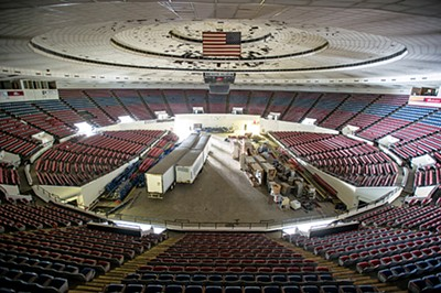 Pictures of what's left inside the Coliseum.