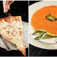Pizza and Soup at Russo's New York Pizzeria