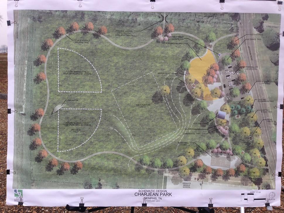 Plans for Charjean Park