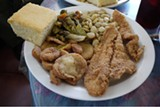 JEANE UMBREIT - Plate lunch at Chamoun's Rest Haven in Clarksdale, Mississippi