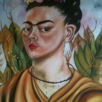Portrait of restaurant namesake Frida Kahlo
