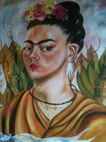 Portrait of restaurant namesake Frida Kahlo