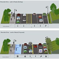 Riverside Drive Gets A Road Diet, Bike and Pedestrian Lane