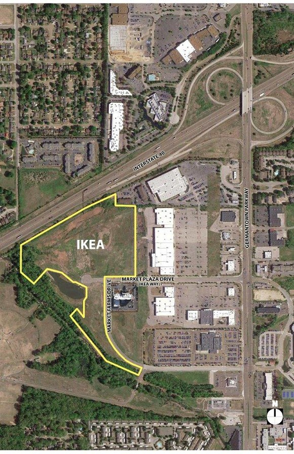 Proposed site location for Ikea Memphis. - IKEA