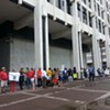 Demonstrators Gather to Protest City Council Vote