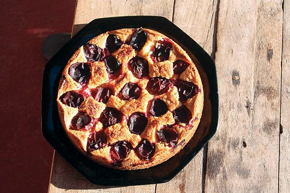 Purple Prune Plum Torte