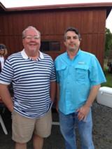 Randy Hatfield and Eugene McCann of Ben E. Keith Co.