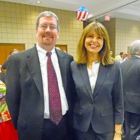 New in the Saddle Recent state Supreme Court appointees Jeffrey Bivins and Holly Kirby at GOP Master Meal JB