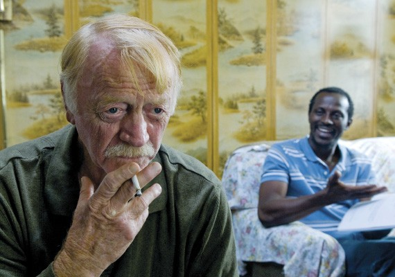 Red West and Souleymane Sy Savane in a scene from Goodbye Solo