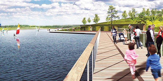 Rendering of the Patriot Lake expansion