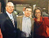 JACKSON BAKER - Retiring former House Speaker Jimmy Naifeh with son Jimmy and state representative Lois DeBerry at the annual Jackson Day Dinner