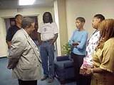 Reverend Bill Adkins and parishioners.