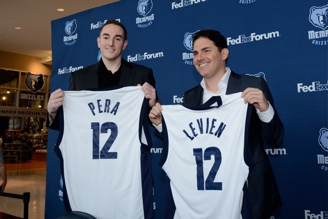 Robert Pera and Jason Levien, first day on the job.