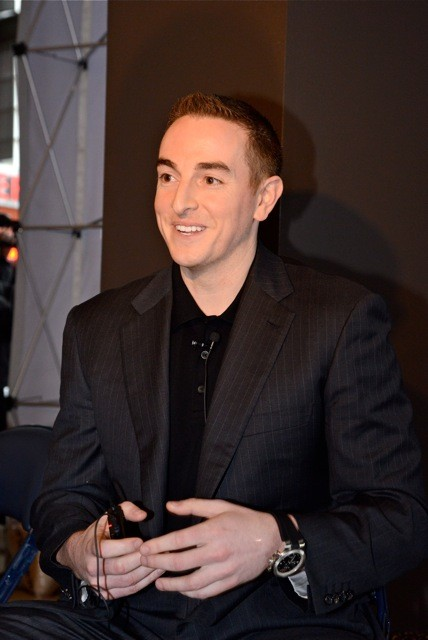 Robert Pera, from his debut appearance before local media. He returned today.