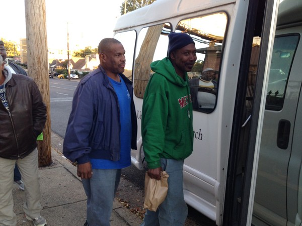 Room In the Inn guests board a van bound for Emmanuel United Methodist Church. - LISA ANDERSON