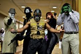 Roosevelt Crawford as Rorschach, Jay Watson as Snake Eyes, Bryan Taylor as Bane, Precious Carson as Black Widow, and Joel Carson as The Hulk