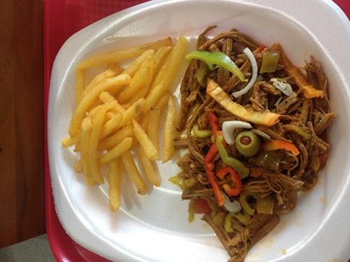 Ropa Vieja and fries.