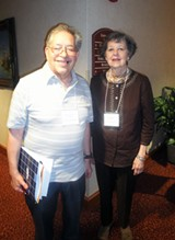 Russell Strauss, president of NFSPS, and Sarah Hull Gurley, president of Tennessee's State Poetry Society. - JB