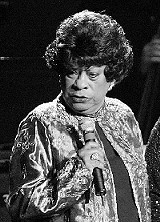 Ruth Brown sings during the Salute to the Blues concert at Radio City Music Hall, in this Feb. 7, 2003, file photo, in New York. Brown, whose recordings of Teardrops in My Eyes, 5-10-15 Hours, and (Mama) He Treats Your Daughter Mean shot her to rhythm-and-blues stardom in the 1950s, has died. She was 78. (AP Photo/Stuart Ramson, file)