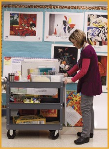 Sallie Sabbatini prepares for her first-graders - BY JUSTIN FOX BURKS