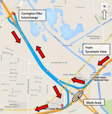 Sam Cooper detour map