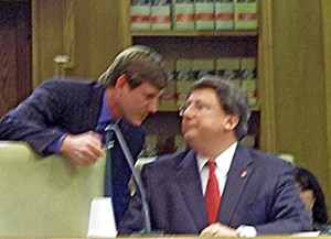 Sate Senator Brian Kelsey conferring with Senate Majority Leader Mark Norris during the 2012 legislative session