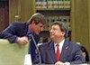 Sate Senator Brian Kelsey conferring with Senate Majority Leader Mark Norris during the 2012 legislaton session