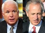 Senators John McCain and Bob Corker
