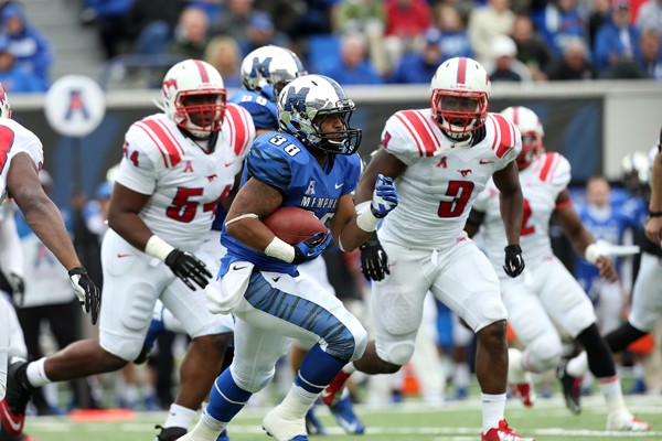 Senior tailback Brandon Hayes and cornerback Bobby McCain (21) will play prominent roles for Coach Justin Fuente