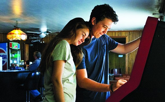 Shailene Woodley and Miles Teller in a scene from The Spectacular Now