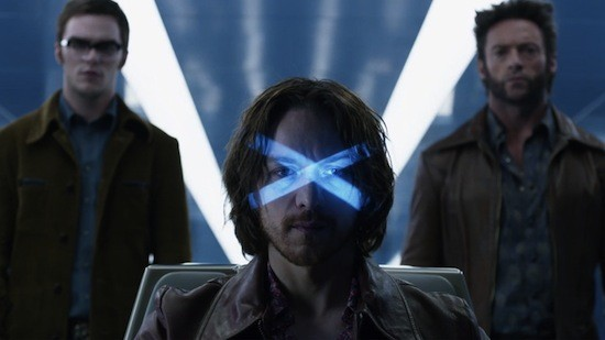 Shawn Ashmore, James McAvoy, and Hugh Jackman in X-Men: Days Of Future Past