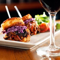 Short Rib Sliders at Napa Cafe