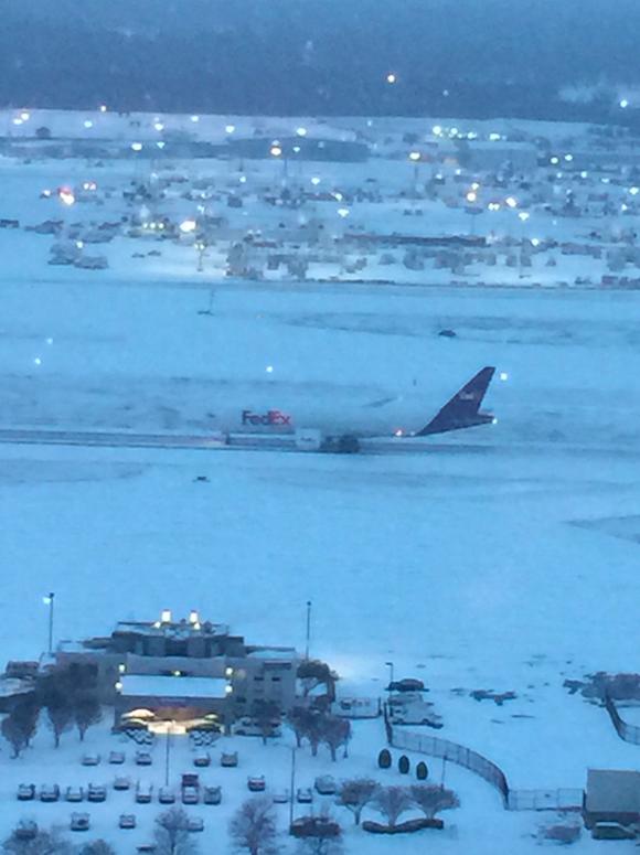 A FedEx flight takes off at Memphis International Airport Thursday morning. - MEMPHIS INTERNATIONAL AIRPORT