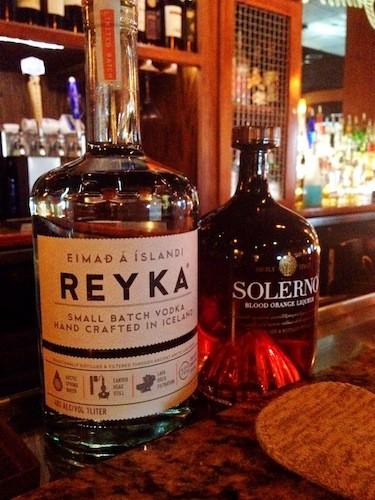 Small-batch Icelandic Reyka vodka and blood orange liquor Solerno
