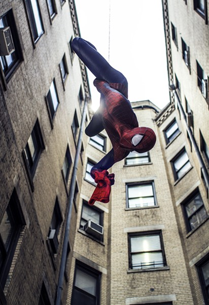 Spider-Man hangs out