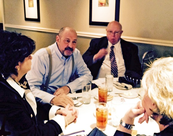 State Reps. Ron Lollar and Jim Coley meet with members of the Republican Women of Purpose. - JB