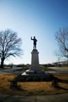 Statue of Jefferson Davis in downtown Memphis