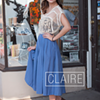 Street Style: Claire's Modern Vintage Appeal